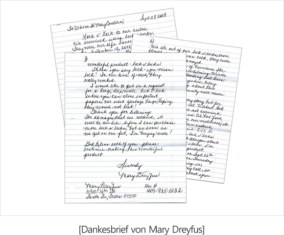 Thank-you letter from Mary Dreyfus